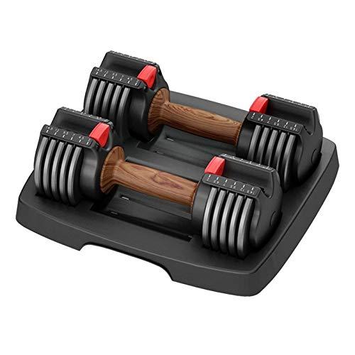 HWZZ Mancuernas Unisex Ajustables Rápidamente Use Equipo De Gimnasia De 14 Kg para Ejercitar Brazos, Glúteos, Piernas, Músculos Abdominales,14kg