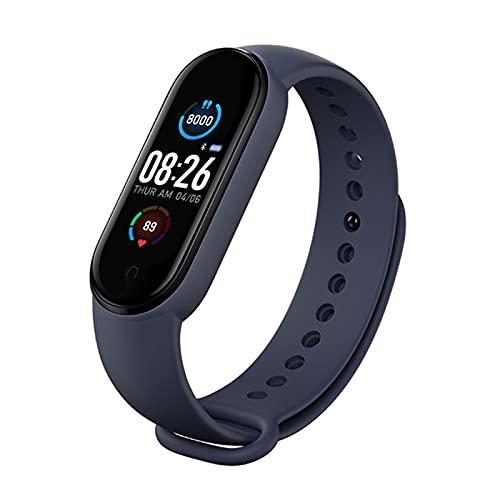 ZXCVB Deportes Bluetooth APP Deportes y Fitness Tracker Reloj con pulso Oxígeno y Monitor de Ritmo Cardíaco, Medio/Pequeño Unisex Púrpura