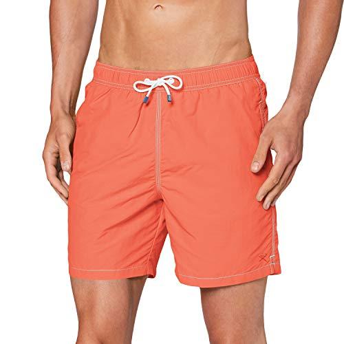 Hackett London Solid Volley Pantalones Cortos, Naranja (1audeep Coral 1au), XX-Large para Hombre