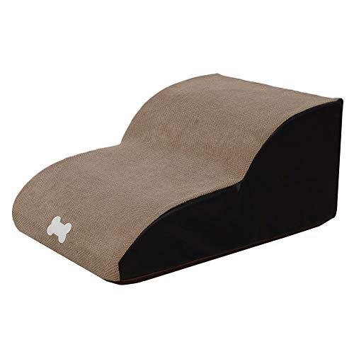 Rampa portátil para perros, 21.6 15.7 9.8 pulgadas Esponja Escaleras para mascotas Escalera antideslizante para cachorros Oso ligero 55kg Para sofá, camas altas, camiones, automóviles y SUV