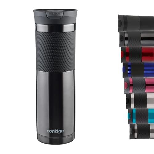Contigo Thermobecher Byron Snapseal, Edelstahl Isolierbecher, Kaffebecher to go, auslaufsicher, spülmaschinenfester Deckel BPA-frei
