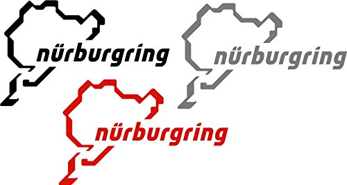 2x Nürburgring (Farbauswahl) Aufkleber Autoaufkleber Sticker Auto`+ Bonus Testaufkleber