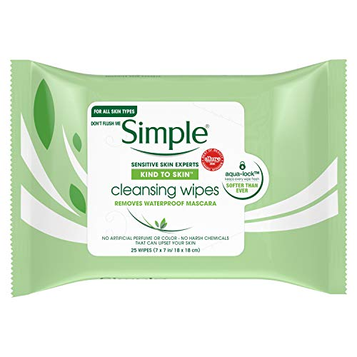 Simple Cleansing Facial Wipes, Radiance 25 ct door Simple
