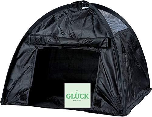 STMK Pop Up Zelt für Katzen und kleine Hunde, Versteck, faltbar 36x36cm+gratis Glück Aufkleber