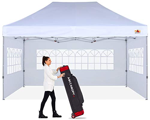 ABCCANOPY Outdoor Winter Gazebo 10x15 Oversized Weather Pod Party Tent,Premium Greenhouse Instant Pop Up Camping Tent with Elegant Church Window,Snow and Rain Protection,Bonus Wheeled Bag,White