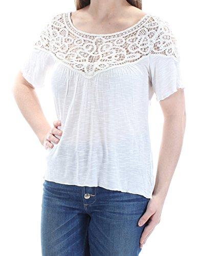 Ralph Lauren Denim & Supply Damen Pullover mit Spitzenbesatz - Weiß - Klein