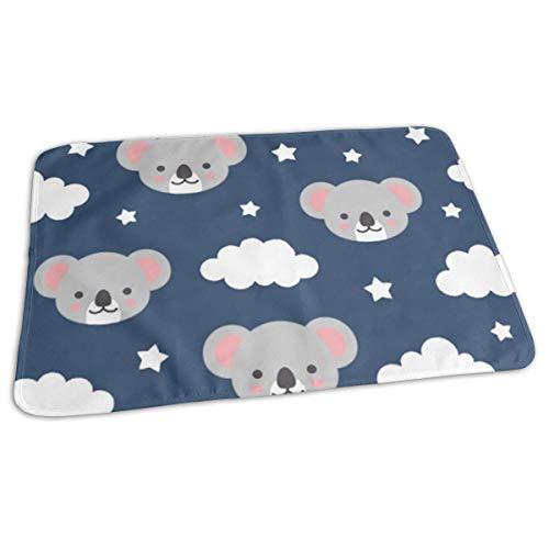 Koala Good Night Cambiador impermeable reutilizable cambiador de bebé para cambiar pañales, funda...