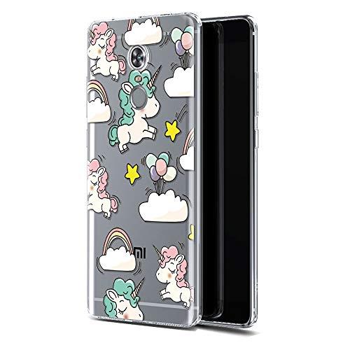 Funda Xiaomi Redmi 5 Plus, Eouine Cárcasa Silicona 3D Gel TPU Transparente con Dibujos Diseño [Antigolpes] de Protector Fundas para Movil Xiaomi Redmi 5Plus 2018-5,99 Pulgadas (Unicornio Color