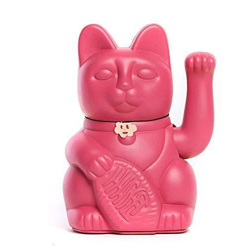 Gato de la Suerte chino. Lucky Cat. Maneki Neko. COLOR ROJO VIOLETA 10x6x15cm