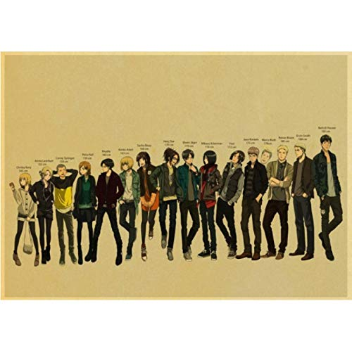 Simayi Anime Angriff Auf Titan Retro Cartoon Malerei Wohnkultur Wanddekorationen Leinwand Wohnzimmer Art Decor Poster 40X50Cm Cdl-359