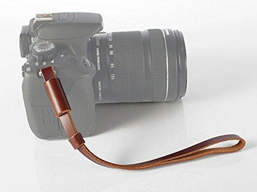No.2 Warehouse Leather Wrist Strap for Sony Nex, Leica, Panasonic, Fujifilm, Olympus, Nikon, Pentax, Samsung and Mirrorless Cameras (Brown) + a Piece of Clean Cloth