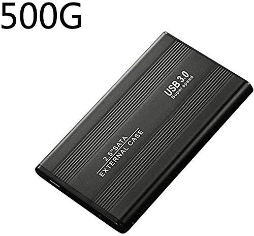 USB Disco Duro Externo, Disco Duro USB 3.0, 2.5inch 500GB 1TB 2TB Externo Alta Velocidad Disco Duro Móvil USB3.0 SATA3.0 Disco - Negro (500gb)