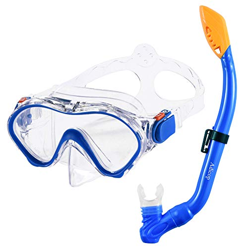 Kids Snorkel Set Dry Top Snorkel Mask with Carrying Bag Kids Youth Junior Snorkeling Gear for Boys and Girls Age from 5-13 Years...