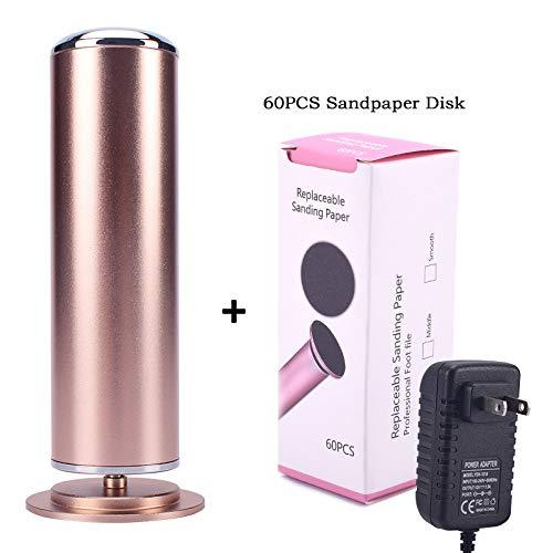 PHCOOVERS フットファイル 角質やすり 電動角質リムーバー 電気フットファイル 60PCS交換用サンドペーパーディスク