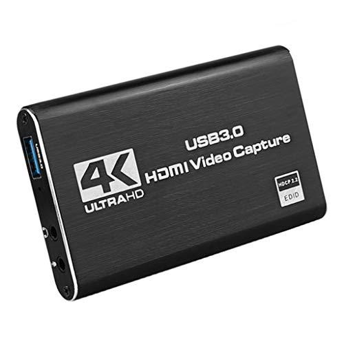 freneci Tarjeta de Video HDMI USB 3.0 1080P 4K Dispositivo de Juego de Grabación de Pantalla