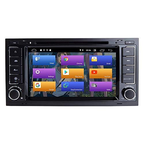 JALAL Navegador GPS para VW Volkswagen Touareg T5 Transporter Android 10.0 Doble DIN 7'Reproductor de DVD para automóvil Navegación GPS Multimedia Auto Radio Estéreo Auto Play/TPMS/OBD / 4G WiFi/Dab