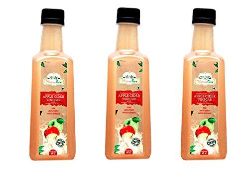 Nutree Pure Raw Apple Cider Vinegar - 400 ml(Pack of 3)