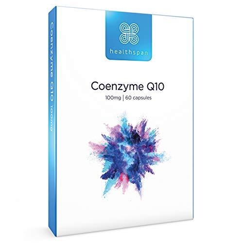 Coenzyme Q10 100mg | Healthspan | 60 Capsules | Vitamin B1 | Heart Health | Gelatin Free | Vegan