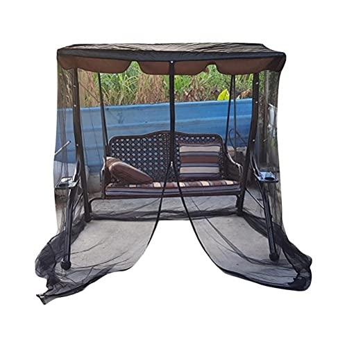 SHARRA Mosquiteras para la terraza Mosquitera de Malla de poliéster con Apertura de Cremallera y Carpa de Techo Impermeable para Interior y Exterior, Negro