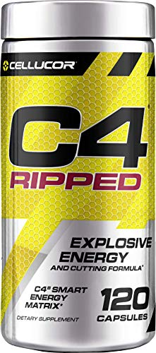 C4 Ripped Pre Workout Capsules | Creatine Free + Sugar Free Preworkout Energy Supplement for Men & Women | 150mg Caffeine + beta Alanine + Weight Loss | 120 Capsules