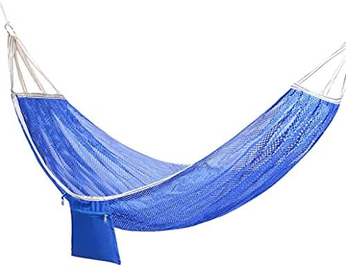 MCE Hamaca individual doble con barra esparcida cama de tela para patio al aire libre porche y regalos de patio para excursionistas
