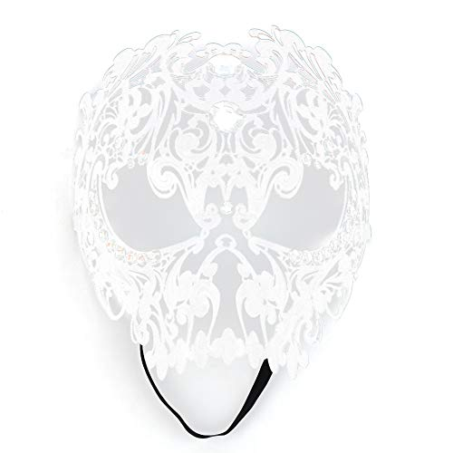 Naroote Mascarilla Sexy,Mascarilla Facial Mascarilla, Sexy Hollow Full para Disfraz de Halloween Ball Party Dance Mask(Blanco)
