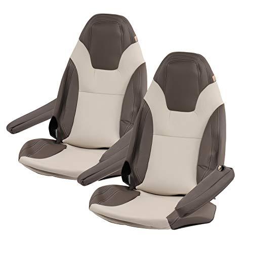 ViaMondo maat stoelhoezen | geschikt voor FIAT Ducato x250/X290 | 2012-| Beige/taupe of beige/Onyx | Kunstleer | 6-delig X250 beige/duif