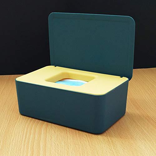 TRGCJGH Estuche para Caja De Pañuelos Estuche para Almacenamiento De Pañuelos con Tapa A Prueba De Polvo Estuche Grande para Guardar Pañuelos Estuche para Toallitas para Pañales con Tapa,B