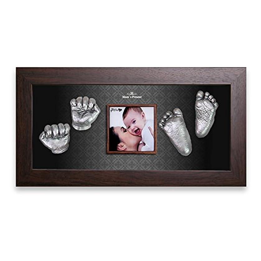 忌まわしい抽出備品Moms Present 赤ちゃんの手と足 WALNUT FRAMEで3DプリントDIYキットをキャスティング(PW-10-At-the-Modern) (silver) [並行輸入品]