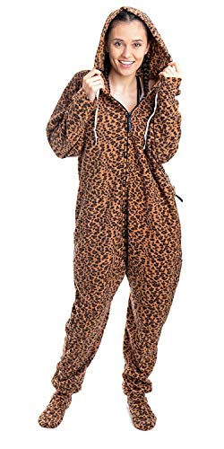 Forever Lazy Footed Adult Onesie - Lethargic Leopard - XS
