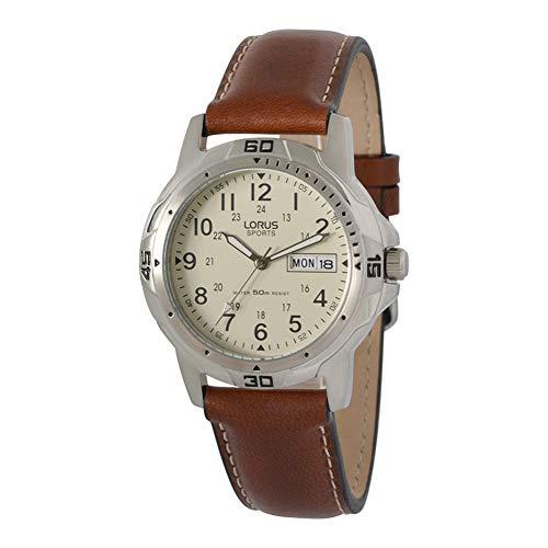 Lorus Herren-Armbanduhr Analog Leder RXN49BX9