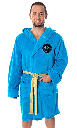 MJC The Legend Of Zelda Breath Of The Wild Dress Like Link Robe For Men, Blue, One Size