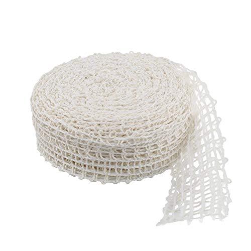 Rural365 Meat Netting Roll, Size 16 - Ham Sock Elastic Netting Meat Butcher Twine Net Meat Netting Roll Meat, 50ft Roll