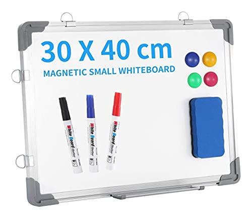 Pizarra Magnética pequeña Pizarra de doble cara Con ajuste de aluminio de doble cara Tabletop Tabletop Plancha plegable para niños estudiantes maestros 16'x 12'