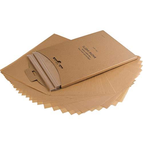Feuilles de Papier Cuisson, 100 feuilles 30*40cm, anti-adhésif de Papier Parchemin Papier sulfurisé