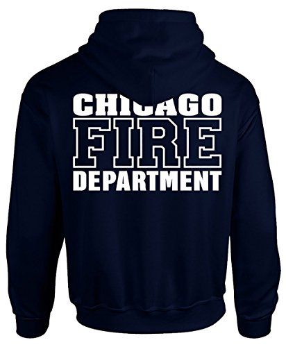 Chicago Fire Dept. - Pullover mit Kapuze (Version 2) (L, Navy)