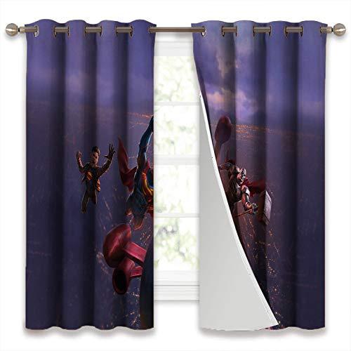 SSKJTC Thermoisolierte Vorhänge, Verdunkelungsvorhänge, Reign Of The Supermen Superboy Verdunkelungsvorhänge, B 116 x L 183 cm