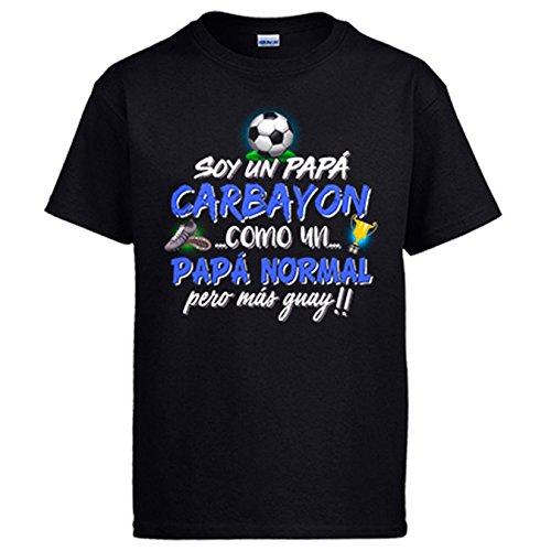 Diver Camisetas Camiseta Soy un papá Carbayón como un papá Normal Pero más Guay - Negro, XL