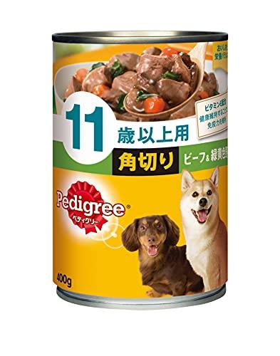 ペディグリー シニア犬 11歳以上用 角切り ビーフ&緑黄色野菜 400g×24缶入り [ドッグフード・缶詰]