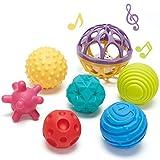 CubicFun Bolas Sensoriales para Bebés Juguetes Bebe 6 Meses a 1 año Multi Textura Pelota Sonajeros Bebe Infantil...