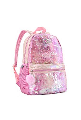 Teen Girls School Backpacks Elementary School Supplies Bookbags Reversible Flip Sequin Pink