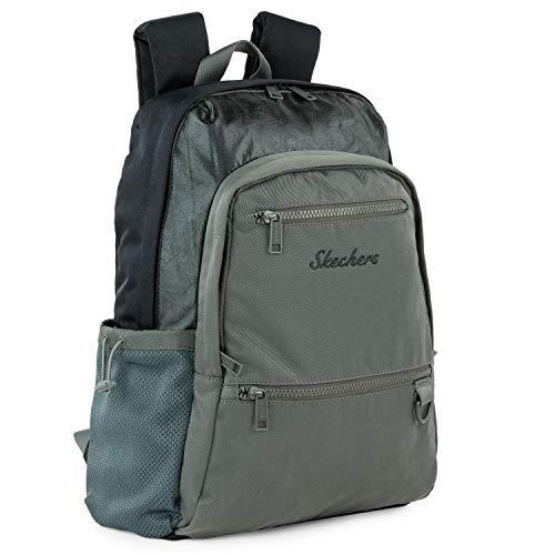 SKECHERS - Lässiger Rucksack Laptop-Fach innen. Perfekt für den täglichen Gebrauch. Praktischer, komfortabler und vielseitiger S985, Color Metall Grau