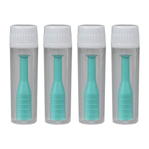 Healifty Linsen saugen Kontaktlinsen Inserter Remover Saugstab mit Flasche für die Reise Heimgebrauch 4pcs (Grün)