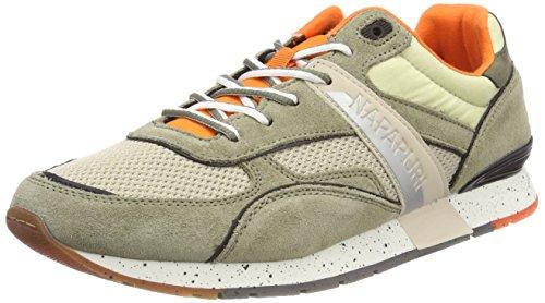 Napapijri Footwear Herren RABARI Sneaker, Mehrfarbig (Khaki), 41 EU