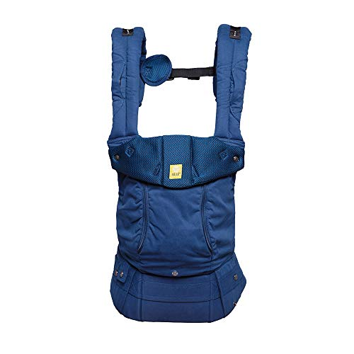 LÍLLÉbaby The Complete All Seasons SIX-Position, 360° Ergonomic Baby & Child Carrier, Navy - Cotton