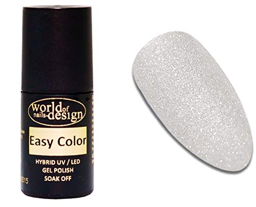 World of Nails-Design Easy Color LED/UV Polish Gel, Hybridlack, Soak Off Gel ablösbar- white Star 6 ml