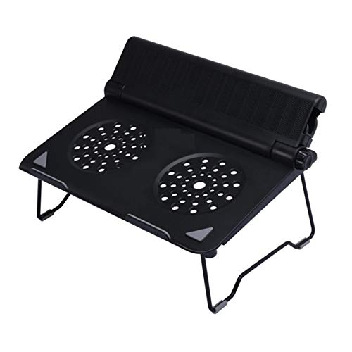 PPLAE 10 a 17 Pulgadas de Ajuste de Altura para computadora portátil Tableta Plegable portátil de enfriamiento Soporte Soporte teléfono (Color : Black)
