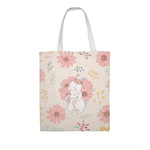 Einkaufstasche aus Baumwollleinen, für Mutter und Baby, Schultertasche, Einkaufstasche
