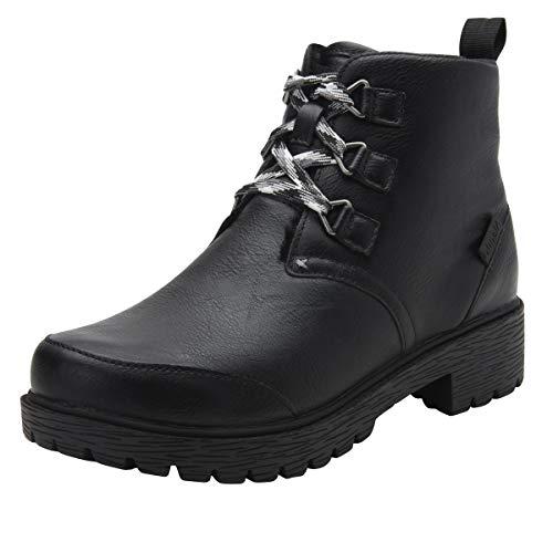 Alegria Women's Mid Calf Boots, Smooth Black, 10.5-11
