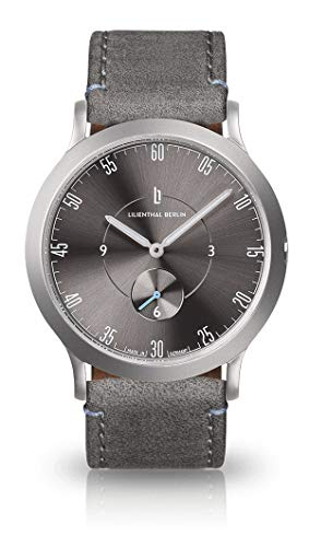 Lilienthal Berlin L1 Klein All Silver Grau Unisex Armbanduhr Made in Germany